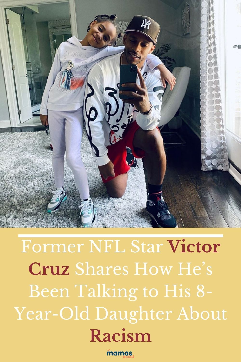 Former wide receiver Victor Cruz may be retired from the sport, but he still has a pretty big job to do, be a dad to his 8-year-old daughter.#NFL #VictorCruz