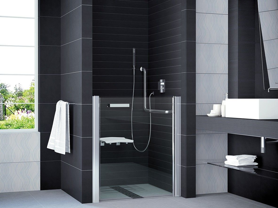 Duschtur Dusche Behindertengerecht 100 X 99 Cm Nischentur Dusche Rollstuhlgerecht Duschtur Nach Mass Im Sondermass Bis 100 Cm Dusche Duschabtrennung Duschtur