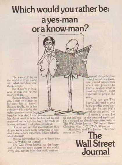 wall street journal yes man no man 1976 ads on wall st journal id=20054