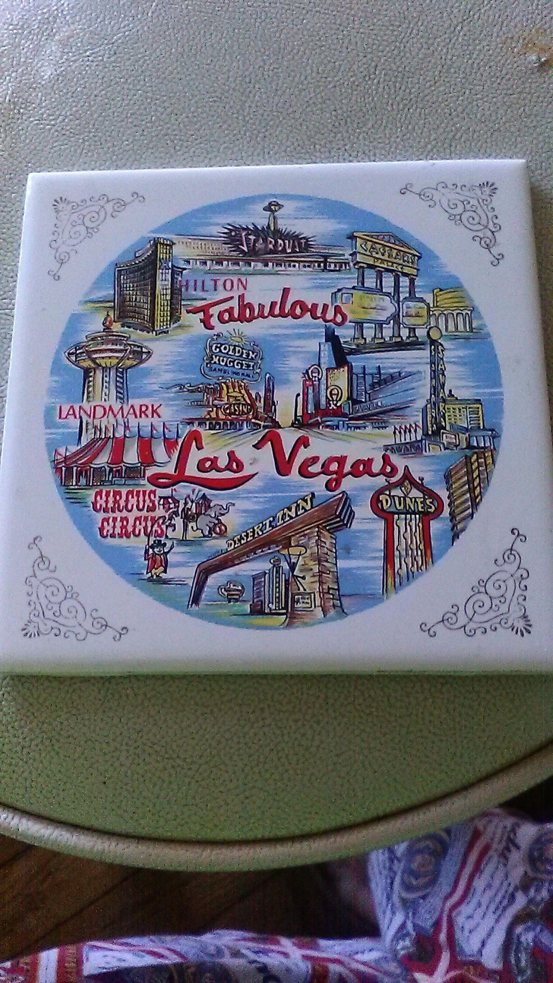 Mid Century Fabulous Las Vegas Ceramic Tile Hotels Landmark Hilton