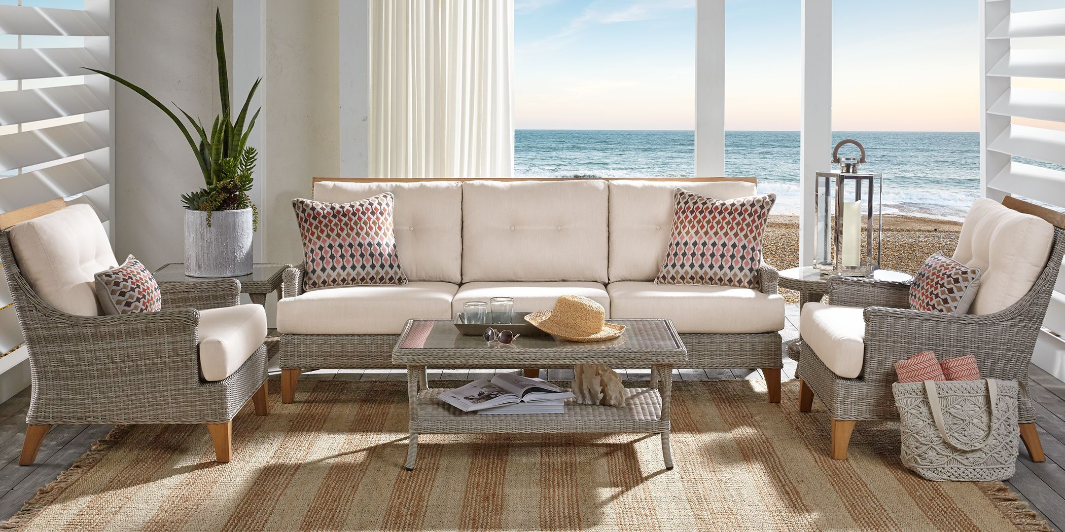 Cindy Crawford Home Hamptons Cove Gray 4 Pc Outdoor ...