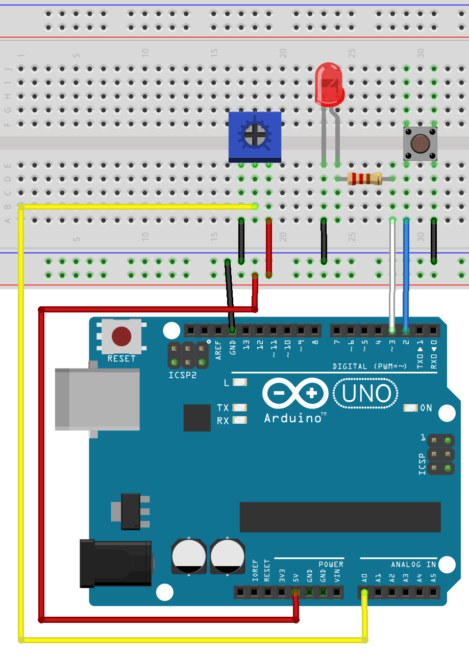Arduino Workshop For Beginners Diy Pinterest Diagram Circuits Potentiometer Wiring Led Pushbutton Circuit