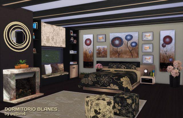 Sims 4 bedroom blanes pqsim4 nueva carpeta cc for Muebles blanes
