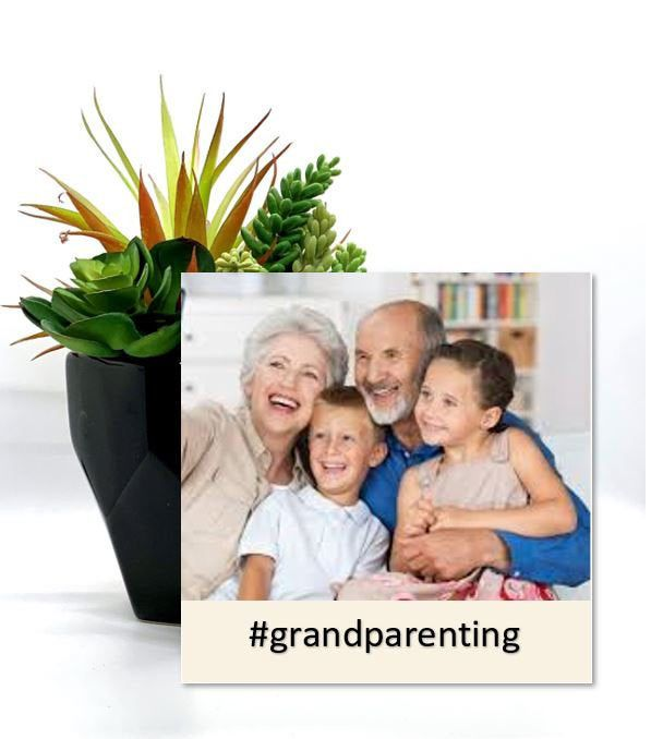 "Custom Grandparent gift- Personalized Grandparents Photo Panel- 6""x6"" photo panel with easel back- Add your own quote - Custom photo gift"