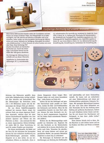 #2353 Wooden Toy Sewing Machine - Wooden Toy Plans