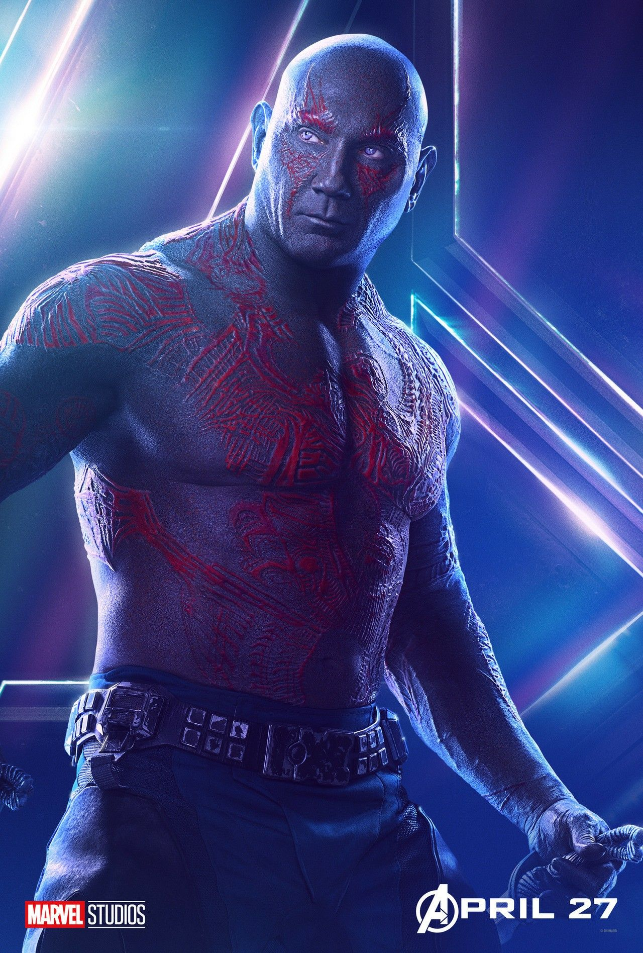 Photographs Dave Bautista Signed Guardians Of The Galaxy Vol 2 8x10 Photo D Drax Destroyer