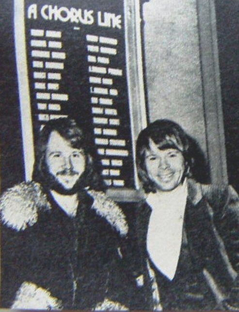 Benny and Bjorn in London to see some musicals like A Chorus Line in January 1977.