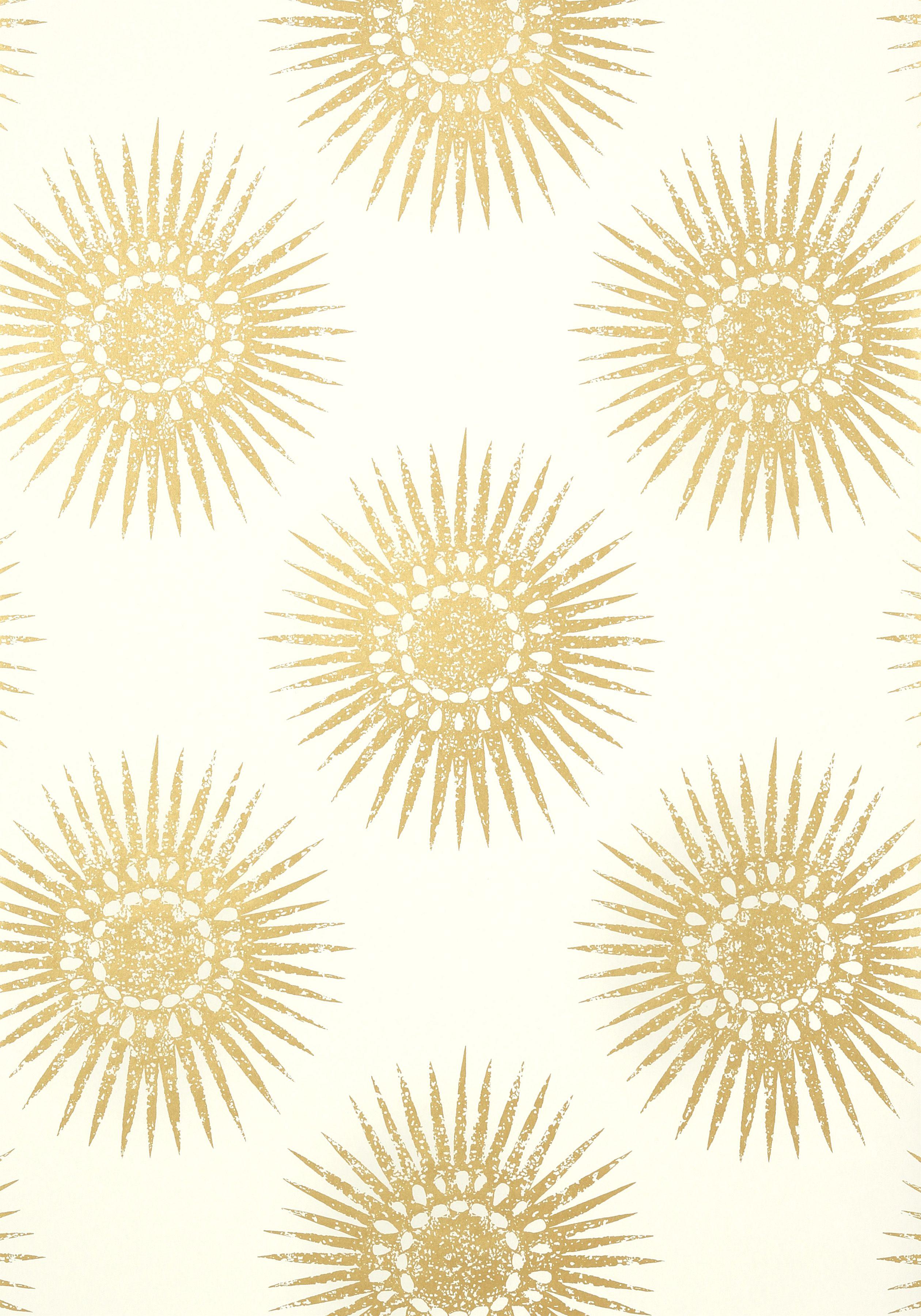 BAHIA, Metallic Gold on Cream, T35143, Collection Graphic