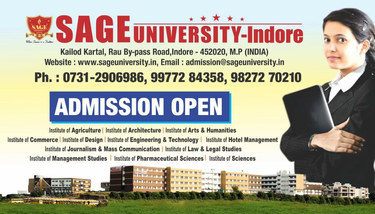 SAGE University Indore is a well known name in the field of
