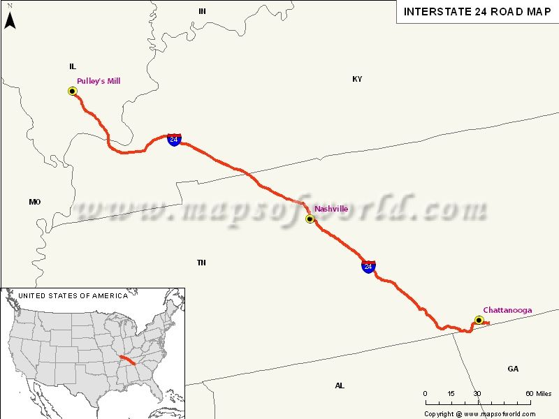#Kentucky #Tennessee #Illinois #Interstate #Map #USA (With