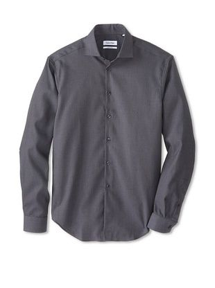 46c0f6827c 42% OFF Calvin Klein Men s Slim Fit Dress Shirt (Smokey Grey ...