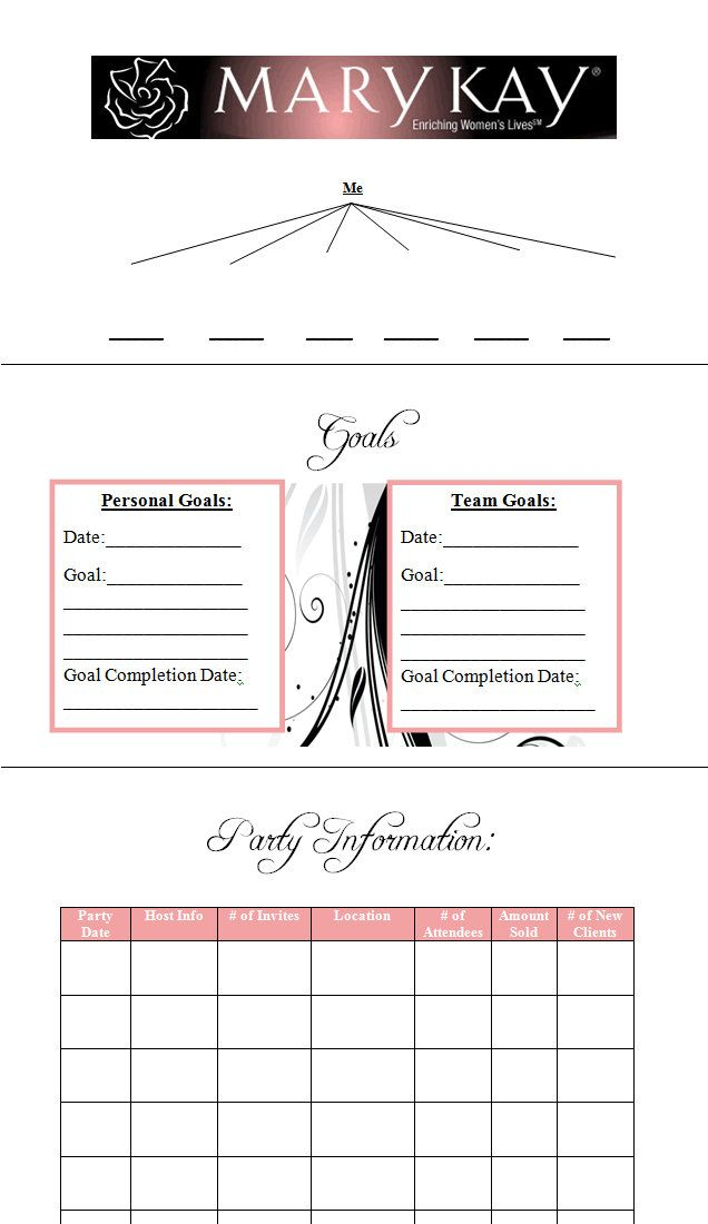 Mary kay independent beauty consultant planner by britnijames a mary kay independent beauty consultant planner by britnijames ccuart Images