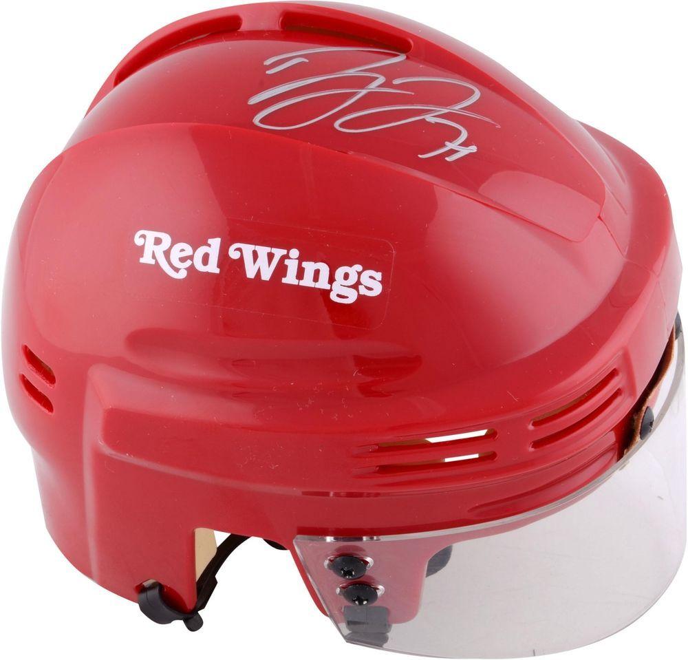 Dylan Larkin Detroit Red Wings Autographed Red Mini Helmet
