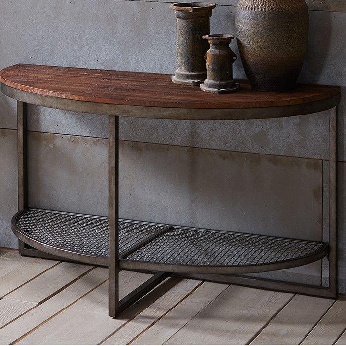Carbon Loft Cohn Vintage Industrial Console Table
