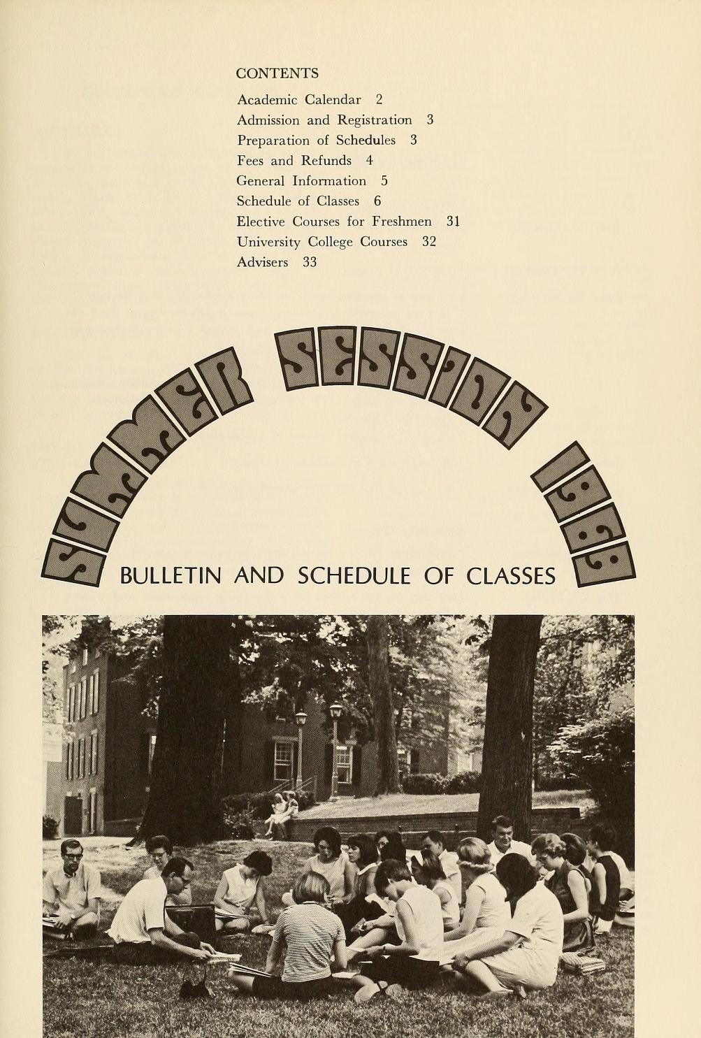 Ohio University Academic Calendar.Ohio University Bulletin Summer School 1969 Summer Session 1969