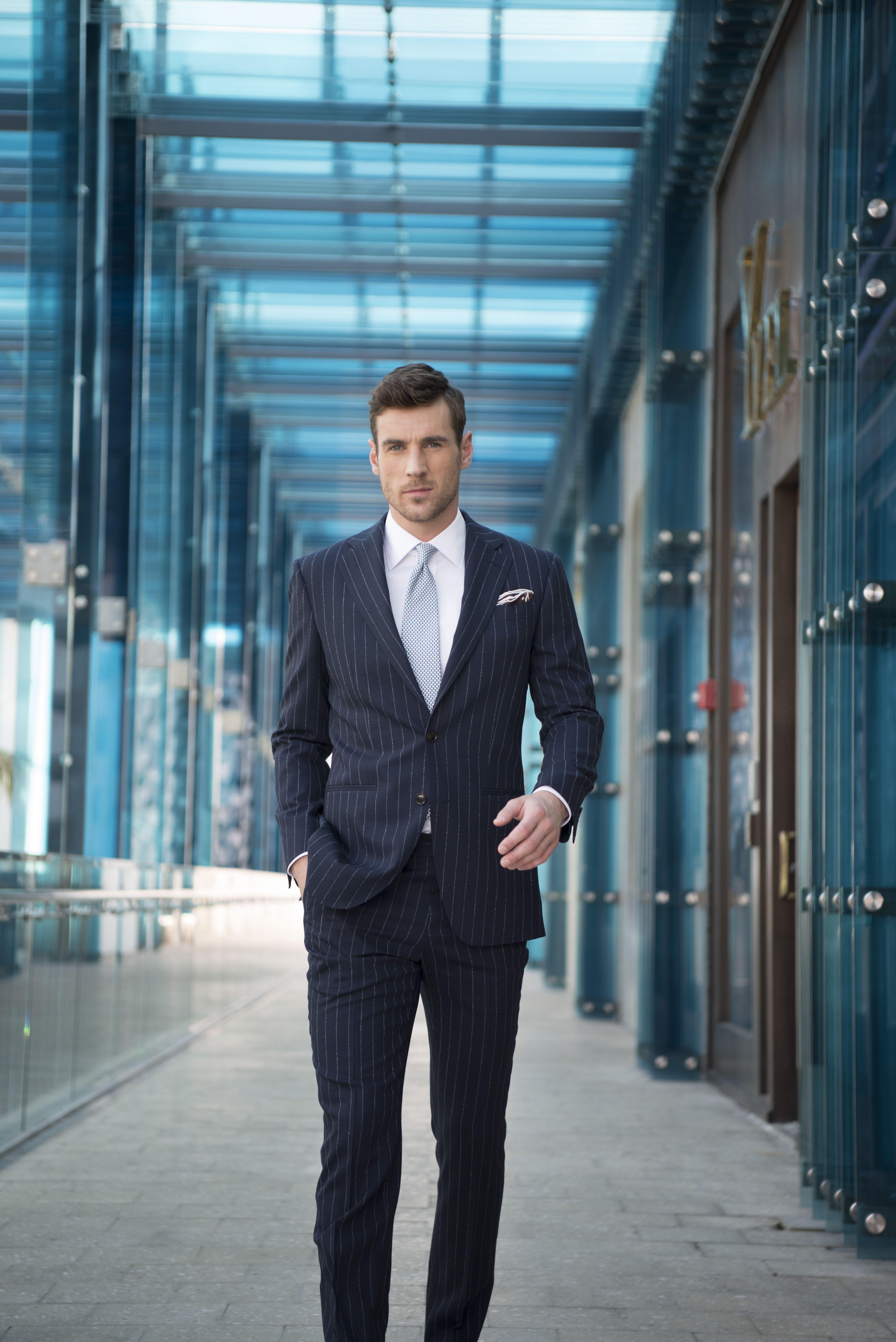 60244c04efa LORO PIANA NAVY CHALKSTRIPE SUIT Custom Tailored Suits