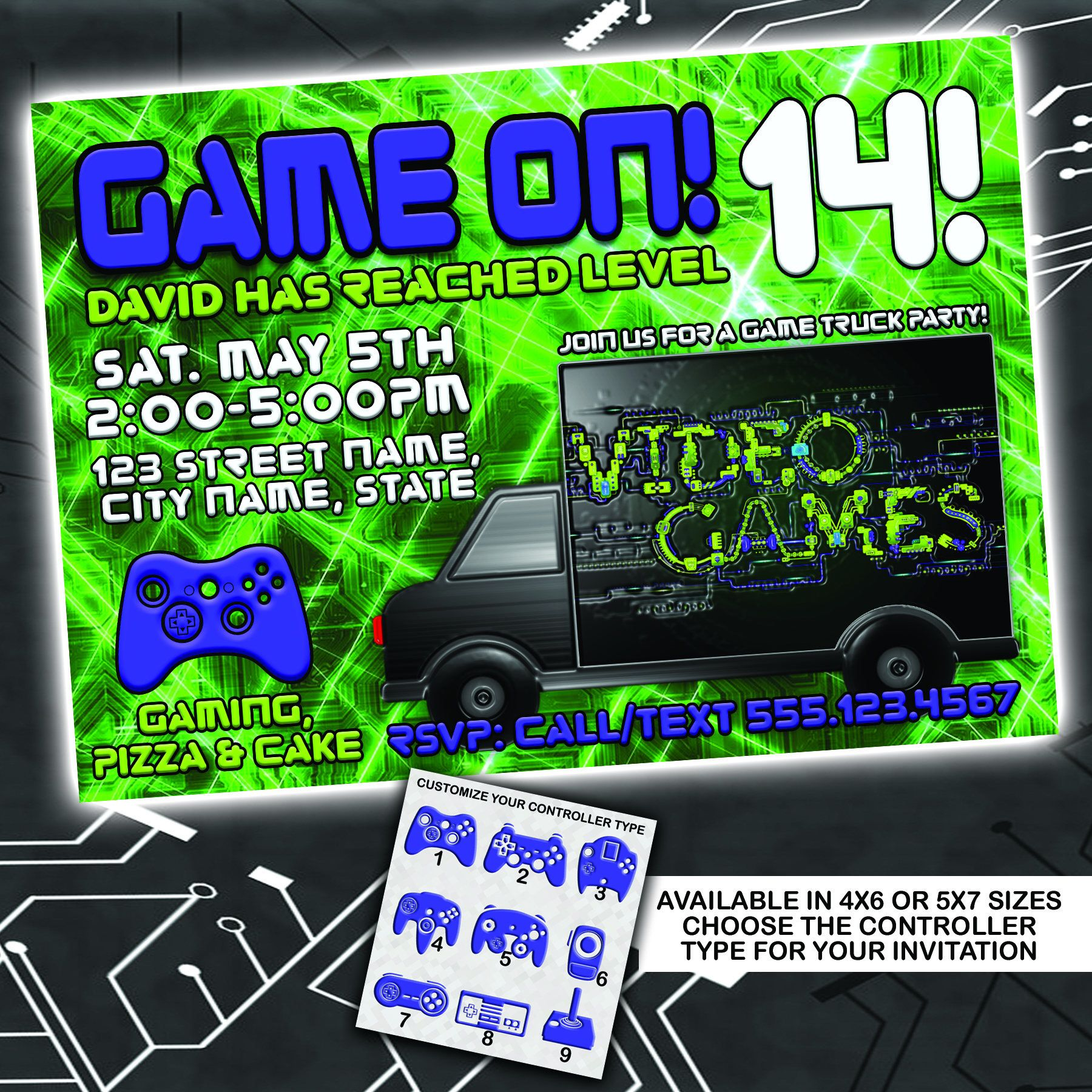 22++ Game truck party invitations ideas