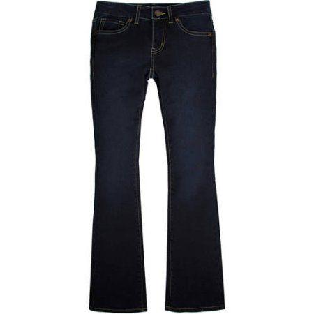 Levi's Signature Girls' 5 Pocket Bootcut Jeans, Size: 16, Blue ...