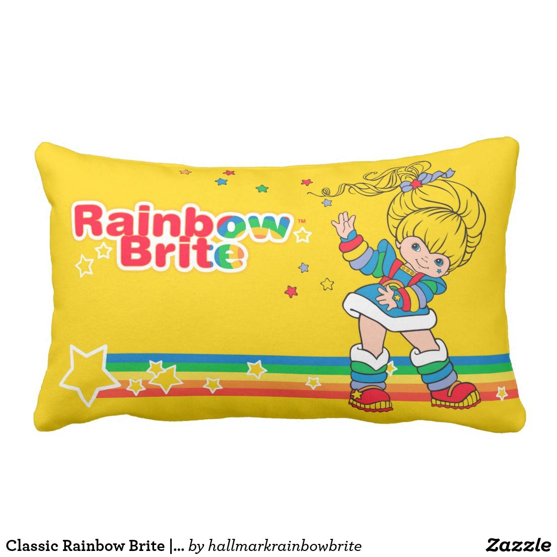Classic Rainbow Brite | Rainbow Bright Walking On Lumbar Pillow