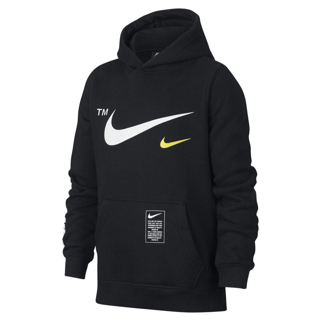 19a539700d52 Nike Sportswear Club Fleece Big Kids  (Boys ) Pullover Hoodie Size XS  (Black)
