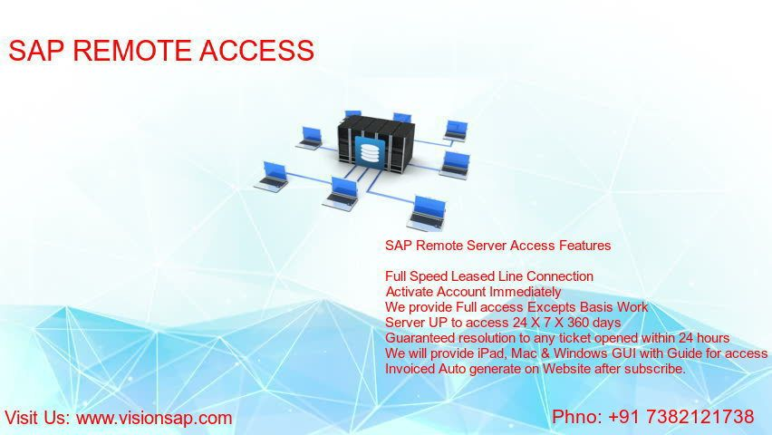 Pin by vision sap on SAP Remote Server Access, | Remote