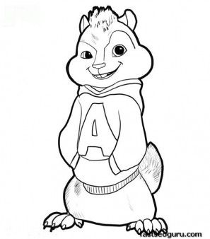 Printable Alvin From Alivin And The Chipmunks Coloring Page