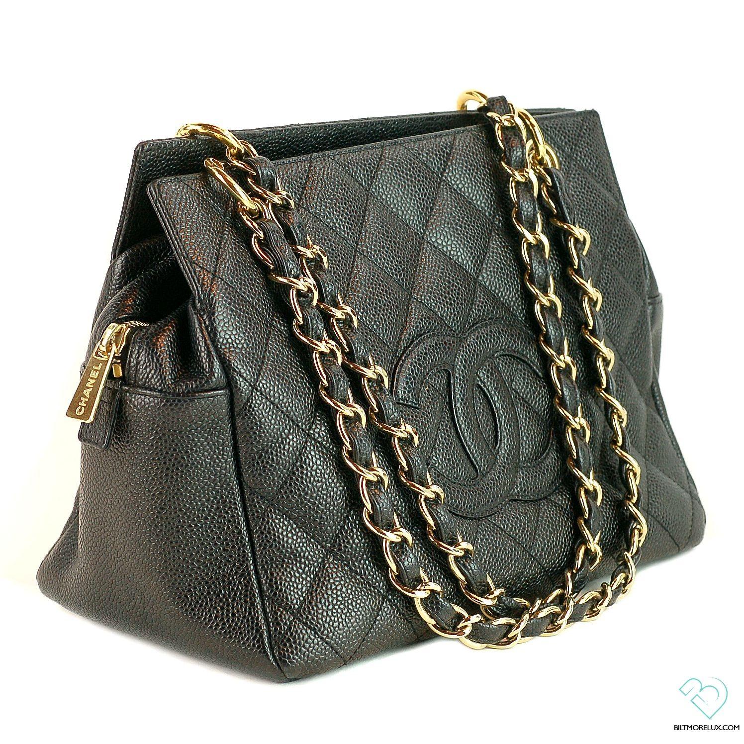 5e0dbe656cb Chanel Black Caviar Petite Timeless Shopper Tote | Biltmore Lux ...