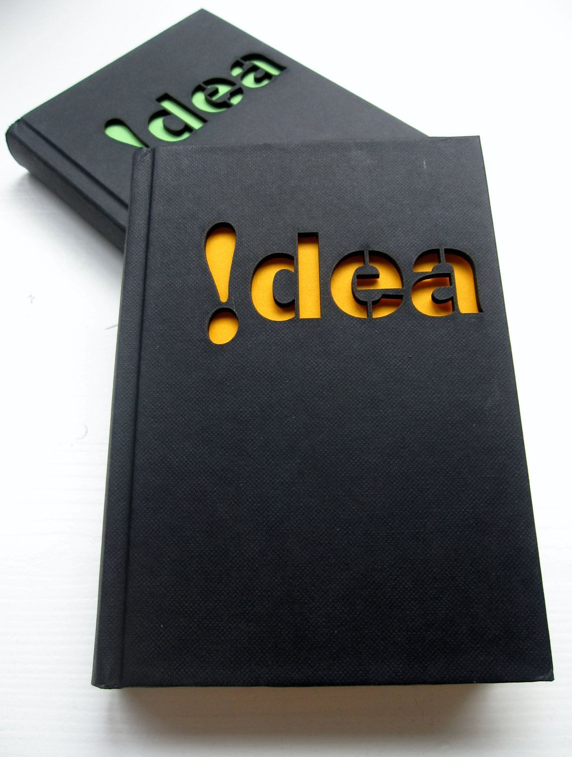 Notebook 'idea'  - with a laser cut cover. $12.50, via Etsy.