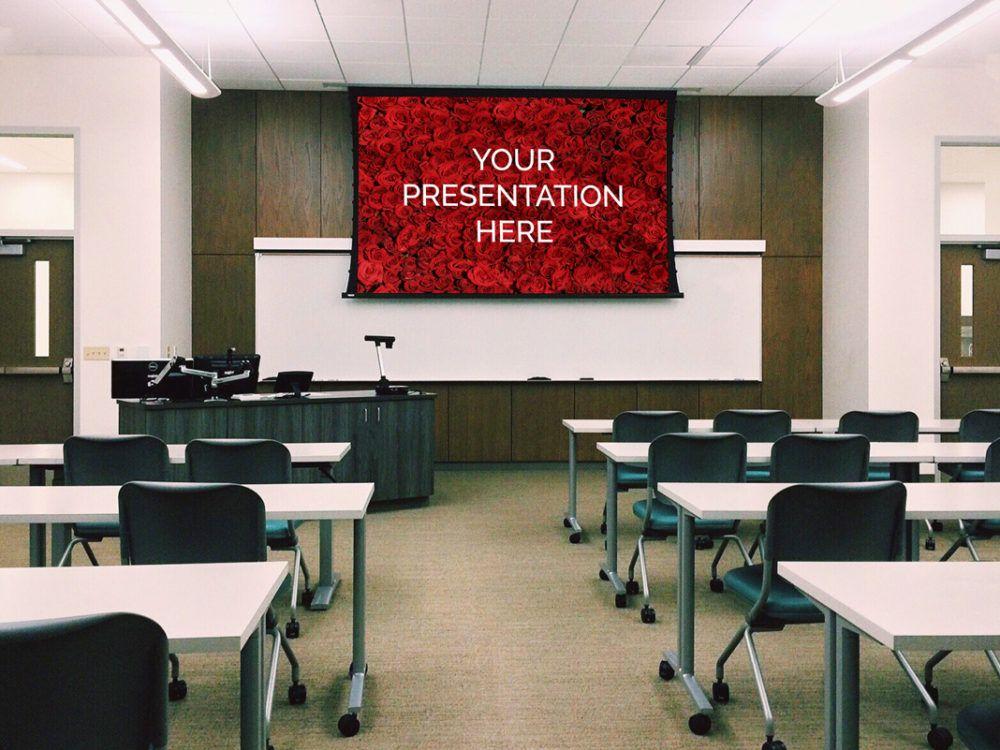 Projector Screen Display Mockup Classroom Design Classroom Interior White Board