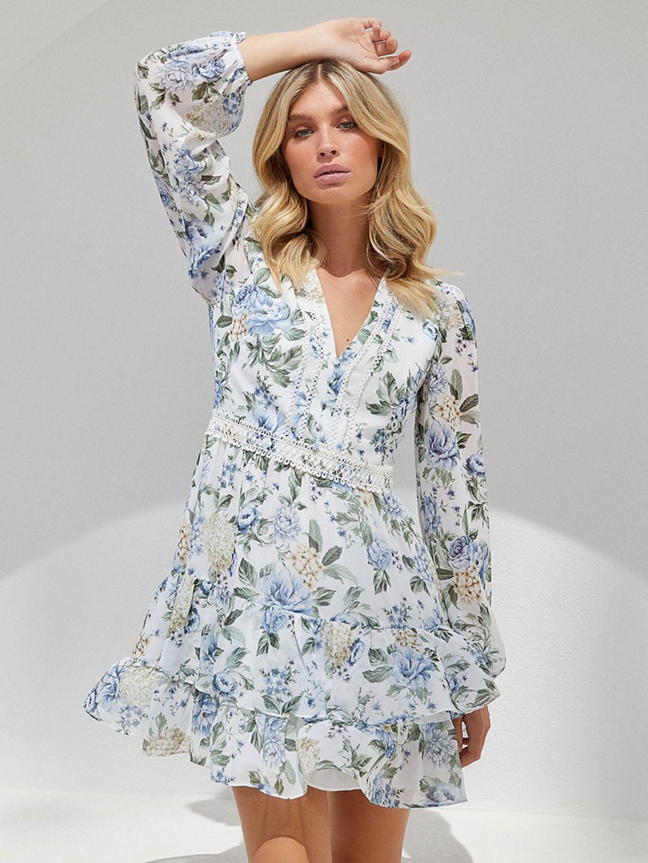 12+ Long sleeve ruffle dress info