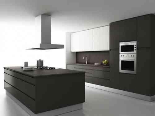 Cuisine en gris et blanc | Wohnung küche, Küche landhausstil ...