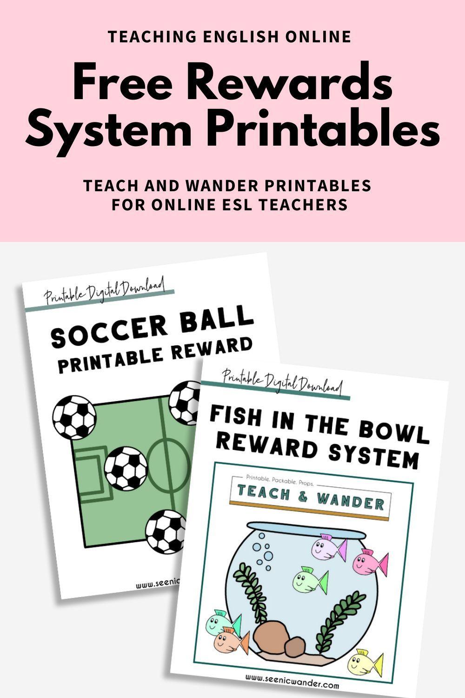 Free Teaching English Online Reward System Teaching English Online Teaching Printables Online Teaching
