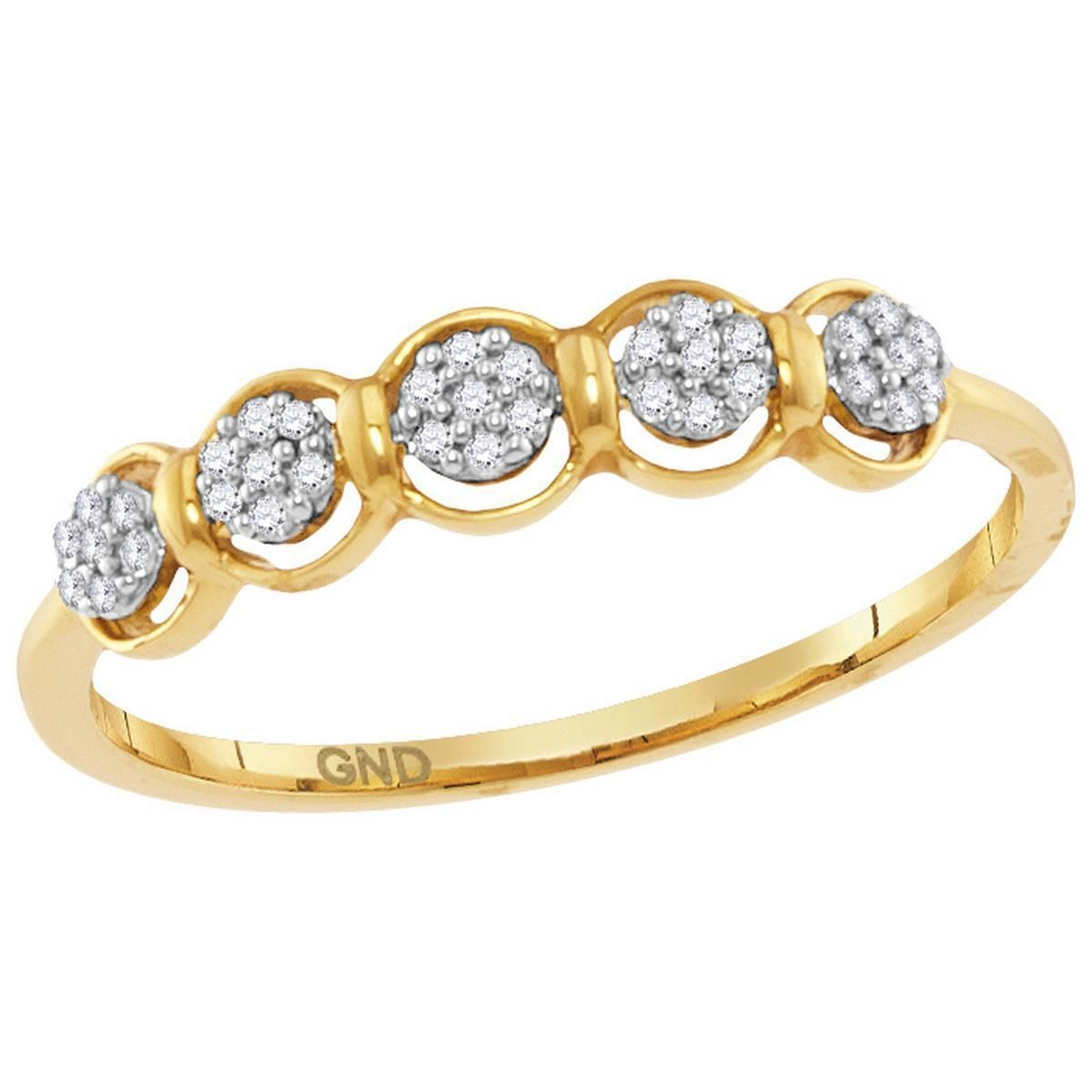 10kt Yellow Gold Women S Round Diamond Cluster Ring 1 10 Cttw Free Shipping Us Can Diamond Cluster Ring Diamond Cluster Yellow Diamond