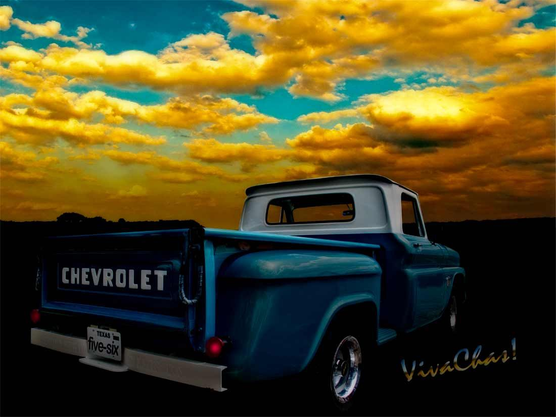 56 Chevy Truck and the Lake Canyon Sunset ~:0) VivaChas! | Texas ...