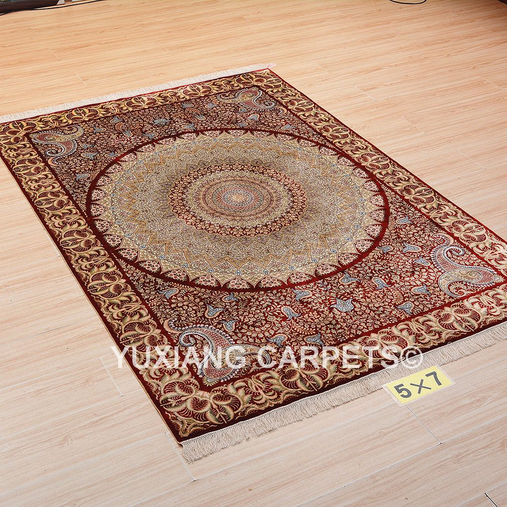 Hand Knotted Silk Rug Carpet For More