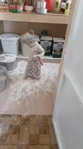 Baby Ghost In the kitchen 😱😂