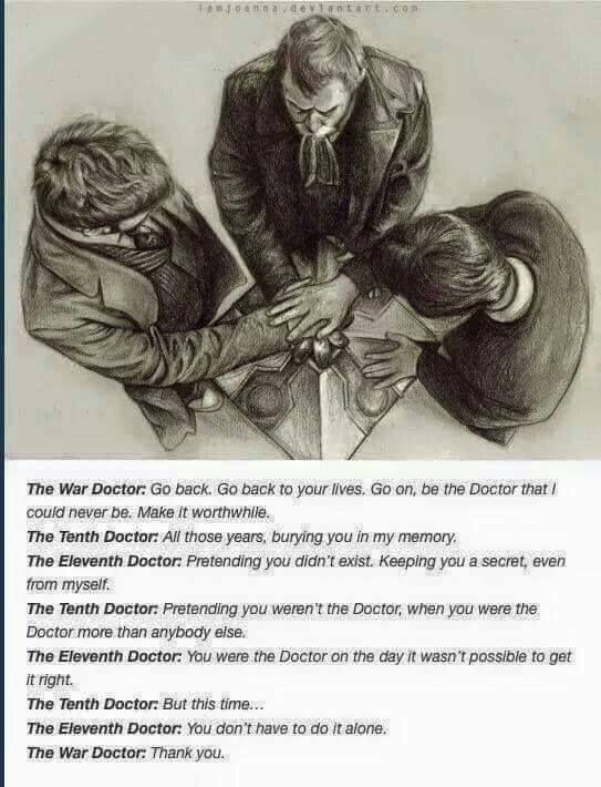 This was such a sweet scene!!! The Day of the Doctor.