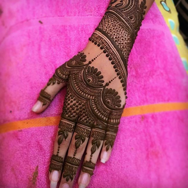 mehandi design back side full hand
