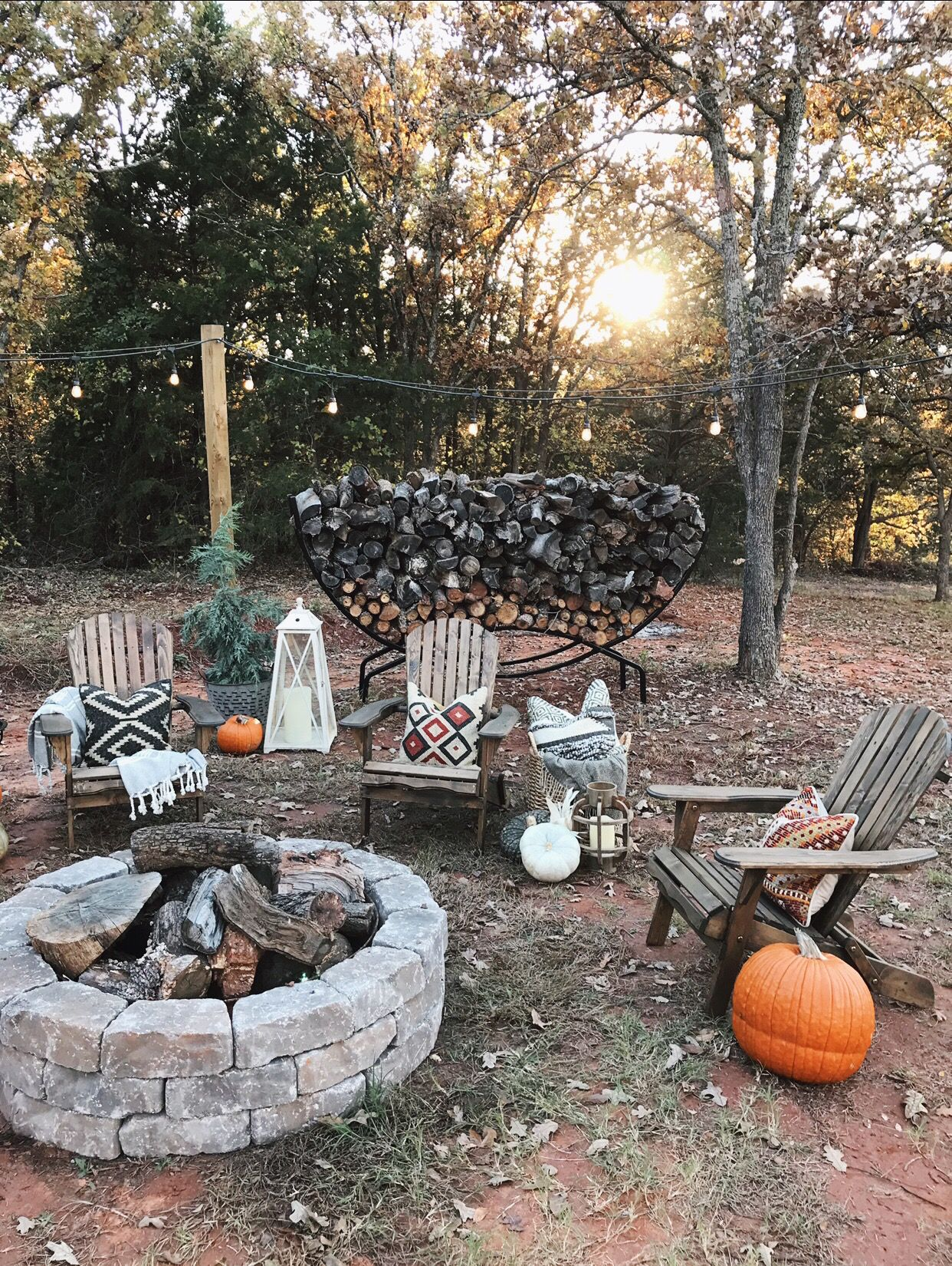 DIY fire pit area on a budget Fire pit area, Diy fire