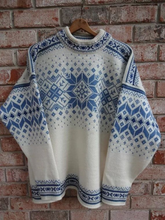 Dale of Norway, Norwegian wool sweater made in Norway-size L | Puntos
