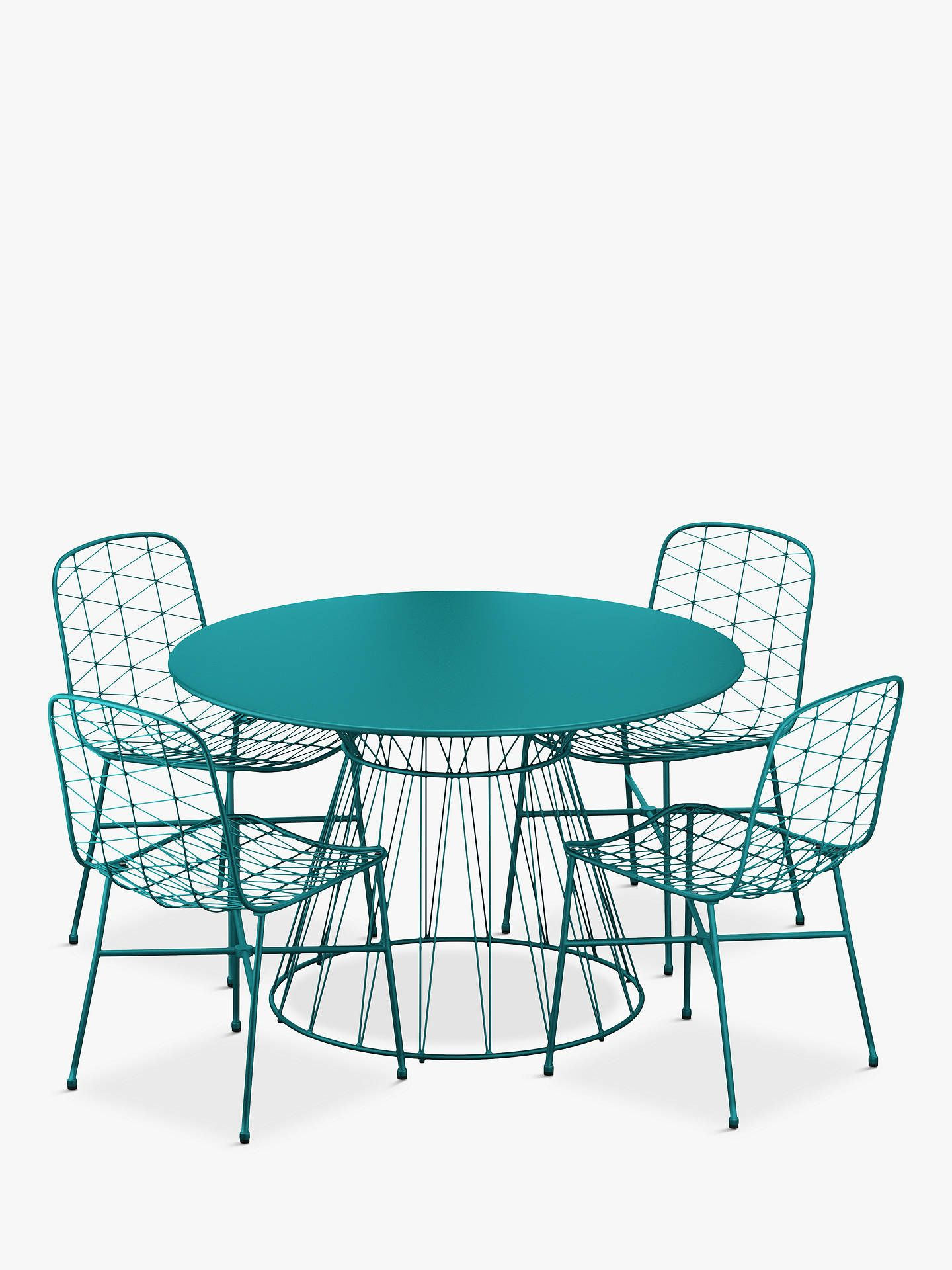 John Lewis & Partners Ray 4-Seat Garden Table & Chairs Set ...