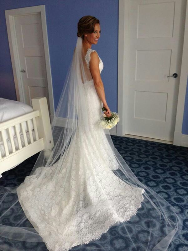 Ginger Zee From Rockford On Say Yes To The Dress On Tlc Oct 24 2014 Pnina Tornai Wedding Dress Wedding Dress Pictures Wedding Gown Patterns