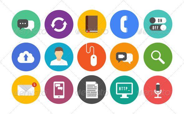Modern Communication Icons Set Communication Icon Icon Set Technology Icon