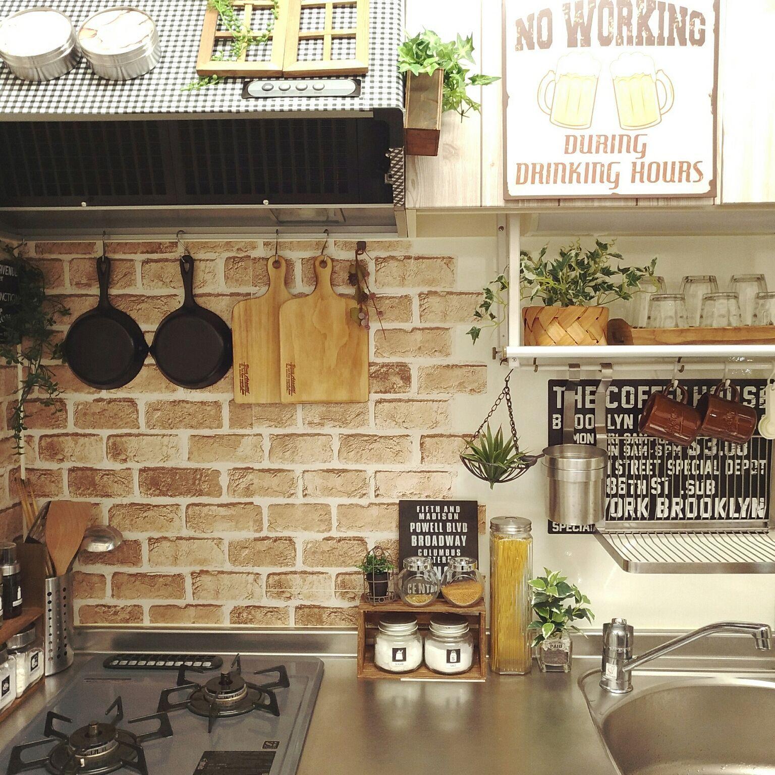 キッチン 1ldk 2人暮らし 賃貸 賃貸アパート などのインテリア実例