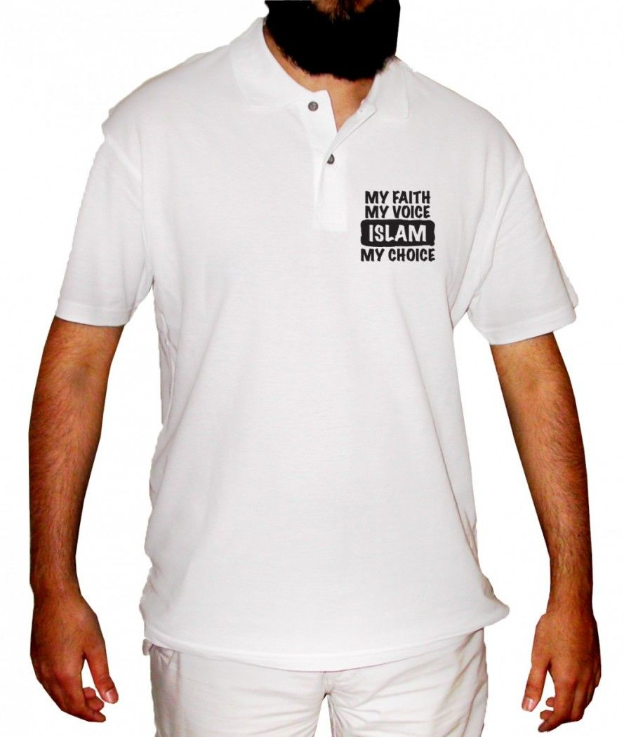 Design t shirt muslim - Design Molvi My Faith My Voice Islam My Choice Polo Shirt 23 52