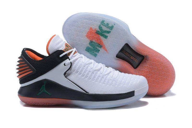 7a637612bf3f09 Cheap Air Jordan 32 XXX2 Low Shoes White Black Green Basketball Sneakers