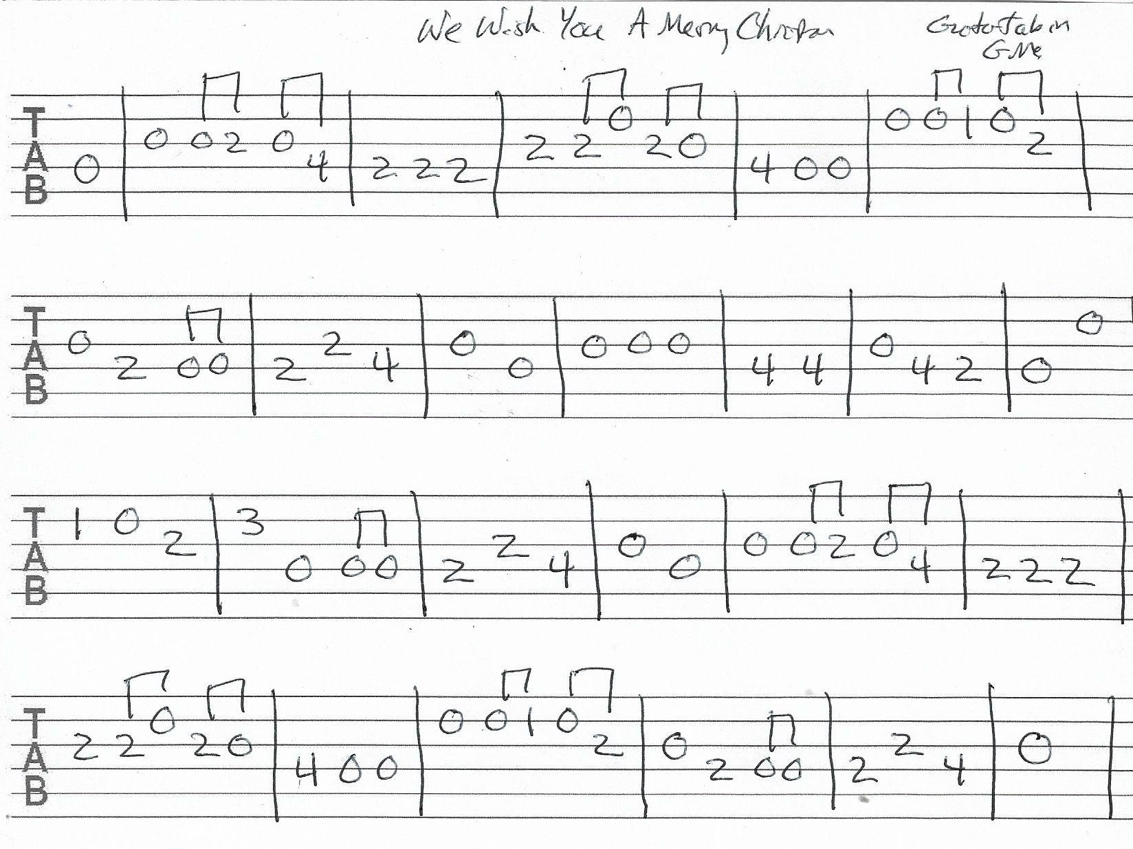 We Wish You A Merry Christmas - Guitar Tab in G Major (con imágenes) | Tablaturas guitarra ...