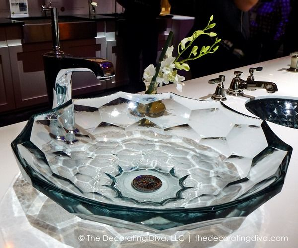 briolette glass bathroom vessel sink