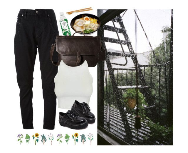 """gentle rain"" by paper-freckles ❤ liked on Polyvore featuring Diesel Black Gold, COWBOYSBELT and WithChic"