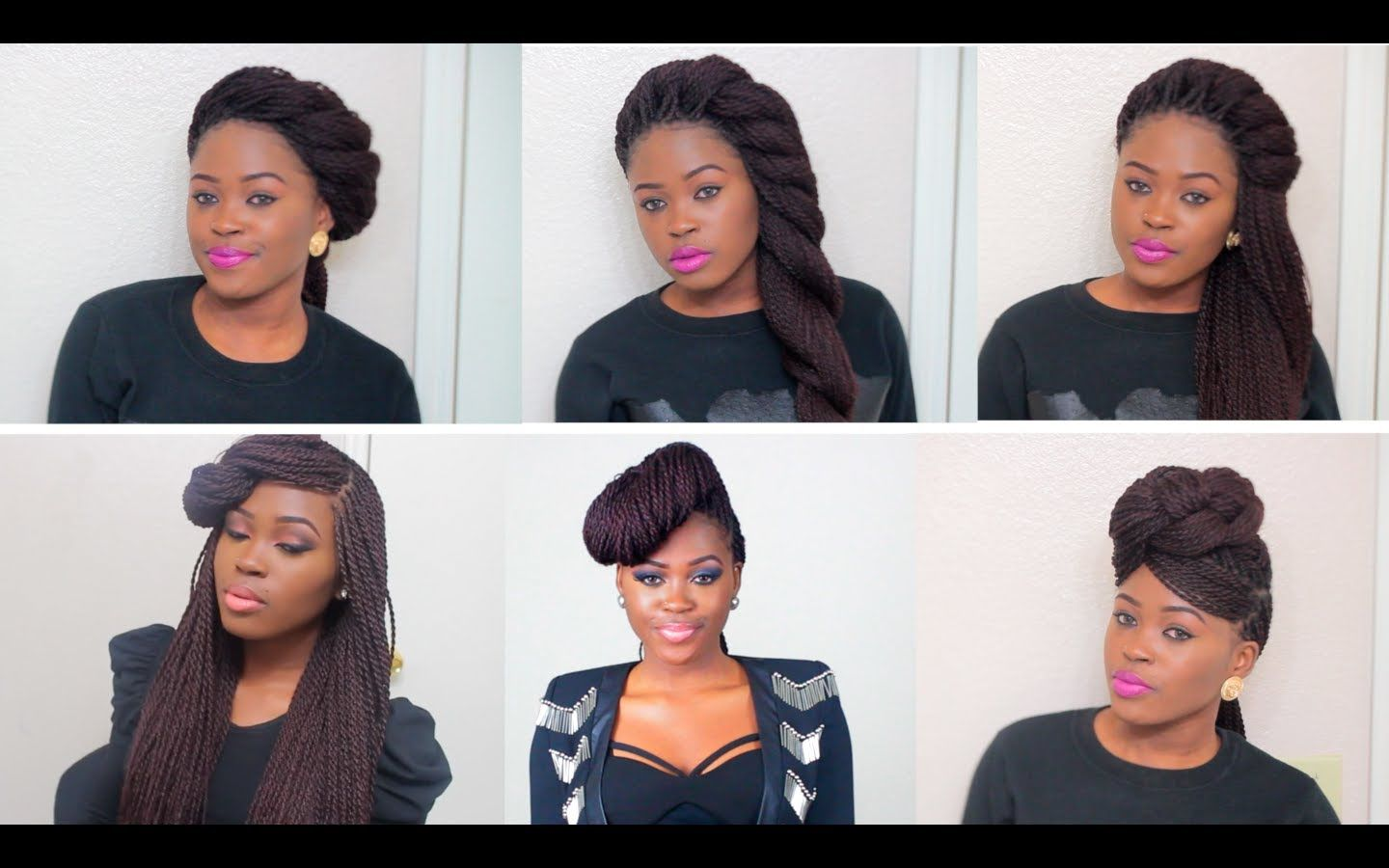 "6 unique quick & easy styles for box braids/twists | ""let me"